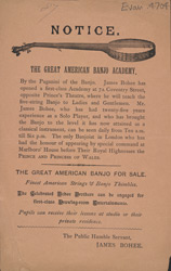 Advert for the Great American Banjo Academy 4704